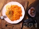 Рецепта Здравословно лимоново пиле с мащерка и пармезанова коричка в AirFryer